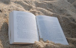 reading literature in the summer sun